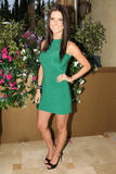 Audrina Partridge in tight green dress at Live From the Hills Season Finale in Beverly Hills