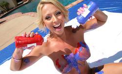 CanSheTakeIt - Brianna Beach - Body Paint a Cock