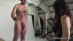 Femdom Shed: My lovely crop on his horrible cock